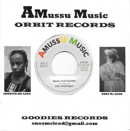 Glen Washington - Name & Number / version (AMussu Music)  7""